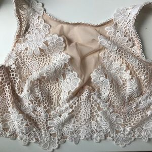 67b196a037 Victoria s Secret Intimates   Sleepwear - Dream Angels White Bralette 36D  Wide Side Thong M